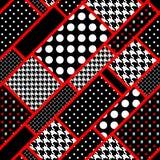 Retro rechthoeken in stip Stock Afbeelding