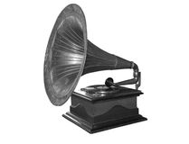 Retro the record player Royalty Free Stock Photo