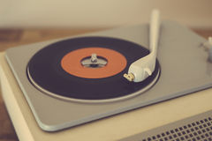 Retro record player Royalty Free Stock Photo