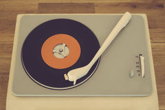 Retro record player. From the sixties Royalty Free Stock Photography