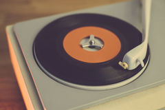 Retro record player. From the sixties, close up Stock Photography