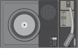 Retro record player Stock Image