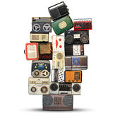 Retro recorder, audio system Royalty Free Stock Photography