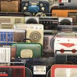 Retro recorder, audio system Stock Photos