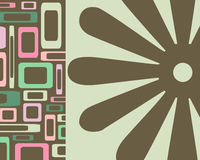 Retro rectangle and floral background Stock Photography