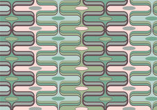 Retro rectangle green and pink vector illustration