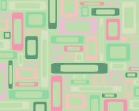 Retro rectangles background. Retro green and pink rectangles background Stock Photos