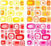 Retro  rectangles patter. Retro  pink yellow and orange rectangles pattern Stock Image