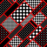 Retro rectangles in polka dot Stock Image