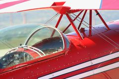 Retro red airplane Royalty Free Stock Images
