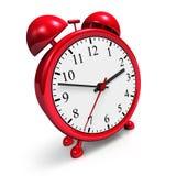Retro red alarm clock Royalty Free Stock Photo