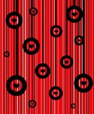 Retro red background. Black hearts wallpaper Stock Photography
