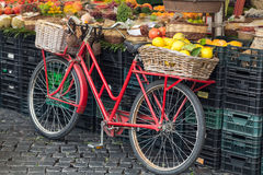 Retro red bike Royalty Free Stock Photo
