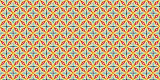 Retro red and blue color stripe geometric shape argyle pattern background Stock Photo