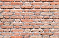 Retro red brick wall stock images