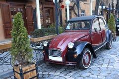 Retro red car Stock Images