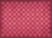 Vintage red circles pattern. Retro red circles pattern on a faded red background stock illustration
