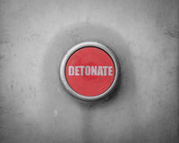 Retro Red Detonate Button Stock Photography