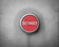 Retro Red Detonate Button Stock Photography