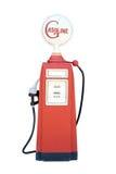Retro red Gasolin Oil Pump Stock Photo