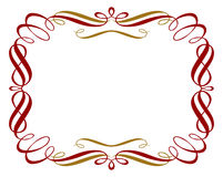 Retro red gold border Royalty Free Stock Photos