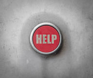 Retro Red Industrial Help Button Stock Image