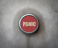 Retro Red Industrial Panic Button Stock Image