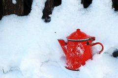 Retro Red kettle Royalty Free Stock Photos