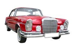 Retro red limousine stock images