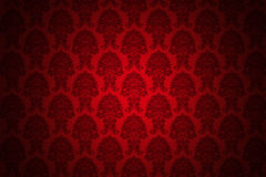 Retro red luxury wallpaper. High resolution background wallpaper with fine detailed red ornaments Royalty Free Stock Images