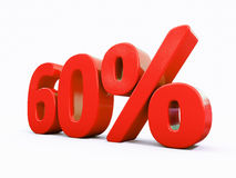 Retro Red Percent Sign Stock Images
