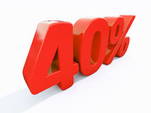 Retro Red Percent Sign Stock Image