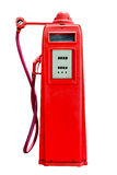 Retro red petrol gasoline pump isolated in white background,clip Royalty Free Stock Images
