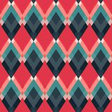 Retro red rhombus seamless pattern Stock Photography