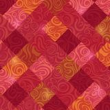 Retro Red Rhombus Swirl Baroque Card Royalty Free Stock Image