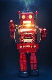 Retro red robor with sparkes Royalty Free Stock Photos