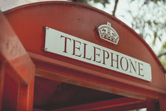 Retro Red Telephone Box Royalty Free Stock Photography