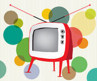 Retro red TV. Beautiful abstract retro red television Royalty Free Stock Photography