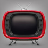 Retro red tv Royalty Free Stock Images