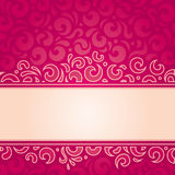Retro red vector pattern wallpaper design template Royalty Free Stock Image