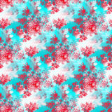 Retro Red White Blue Rosebuds Pattern Royalty Free Stock Image