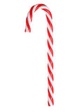 Retro red and white christmas candy cane Stock Photography