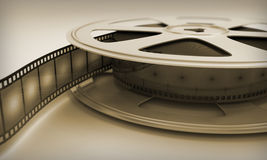 Retro reel film Royalty Free Stock Images