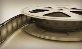 Retro reel film. Close-up. 3D render image Royalty Free Stock Images