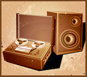 Retro reel tape recorder Royalty Free Stock Photo