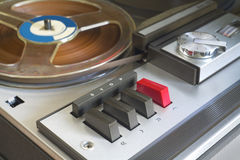 Retro reel to reel tape recorder Royalty Free Stock Images
