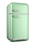 Retro refrigerator. Isolated on white background royalty free illustration
