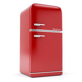 Retro refrigerator. On a white background stock illustration