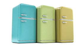 Retro refrigerator Stock Photos