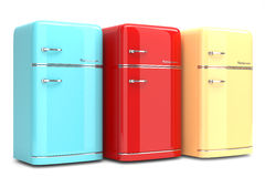 Retro refrigerators Royalty Free Stock Images